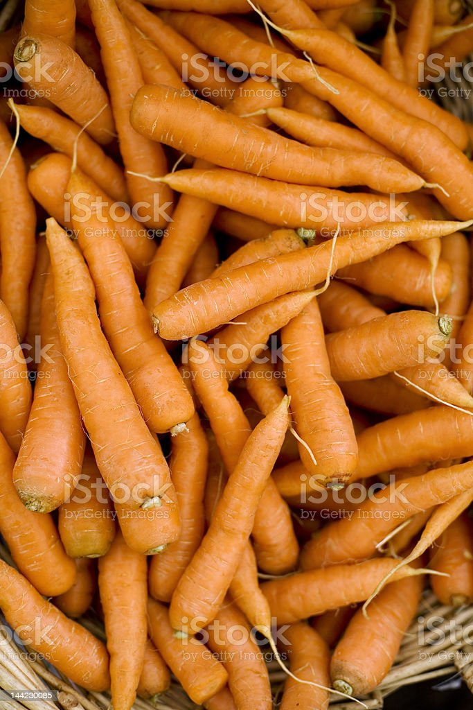 Bright and Fresh Carrots royalty-free stock photo