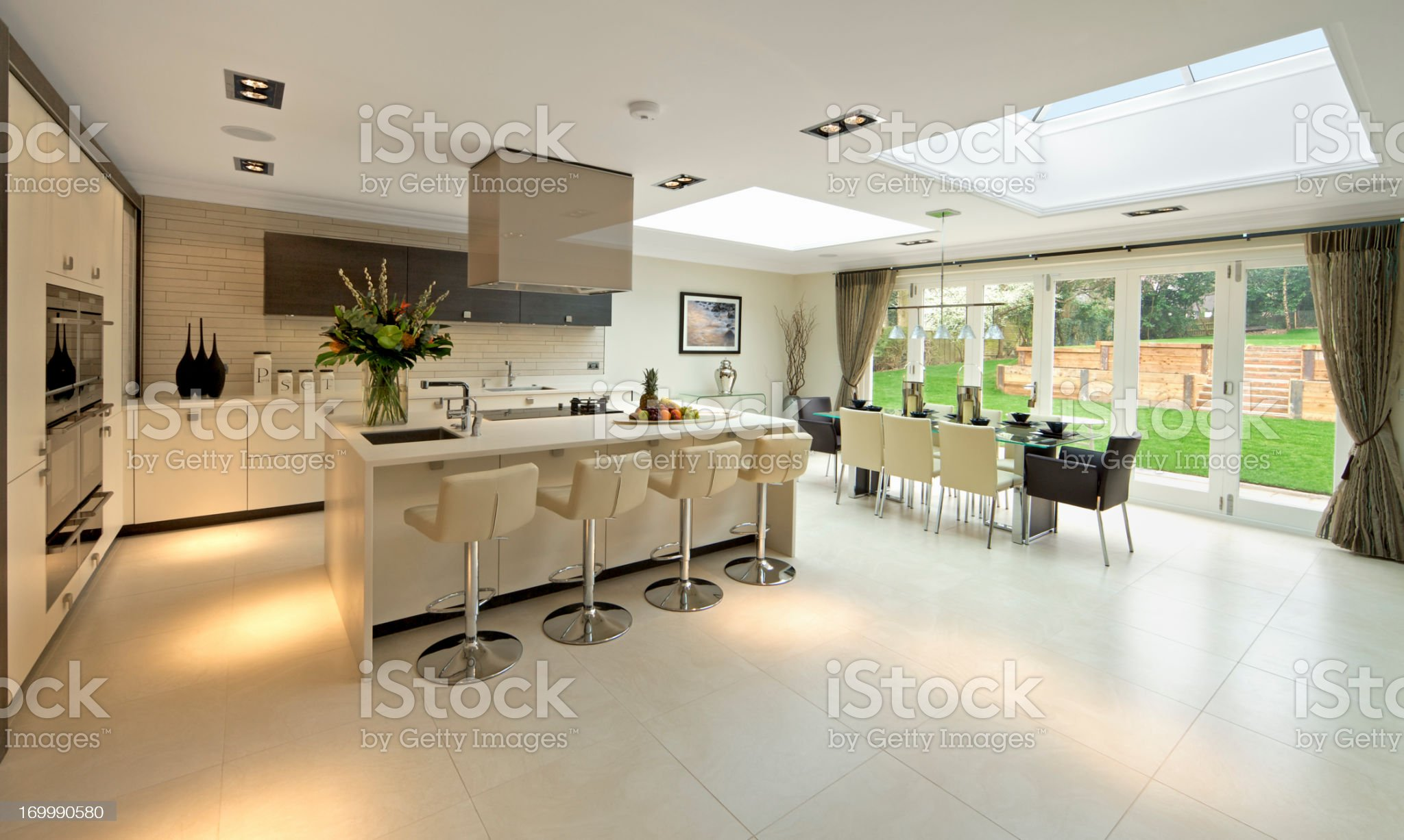 bright and spacious kitchen royalty-free stock photo