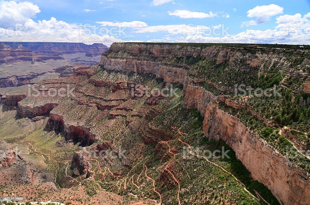 Bright Angel Trail, Grand Canyon, USA stock photo