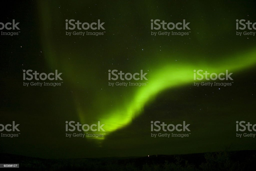 Bright aurora arc and a cloud royalty-free stock photo