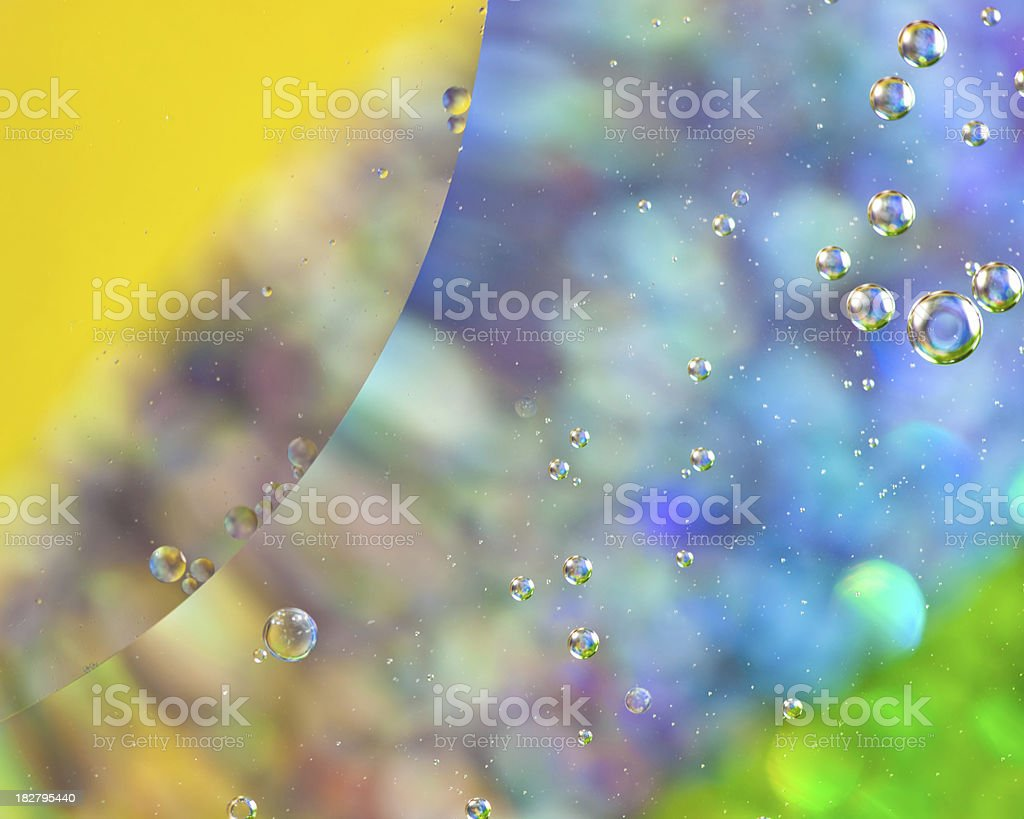Bright Balls of oil royalty-free stock photo