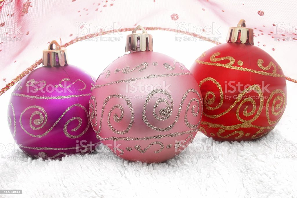Bright Baubles royalty-free stock photo