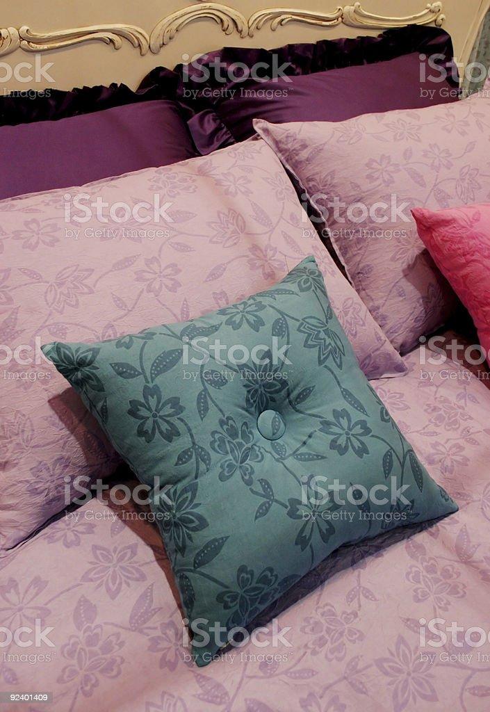 Bright bedroom - home interiors royalty-free stock photo