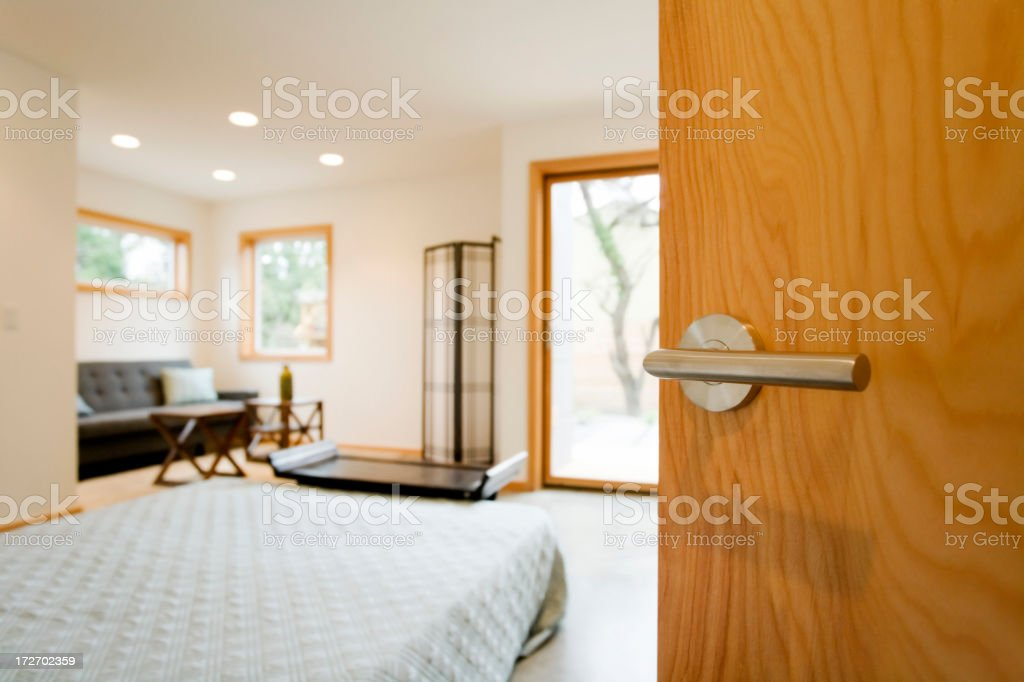 Bright Bedroom - Looking In royalty-free stock photo