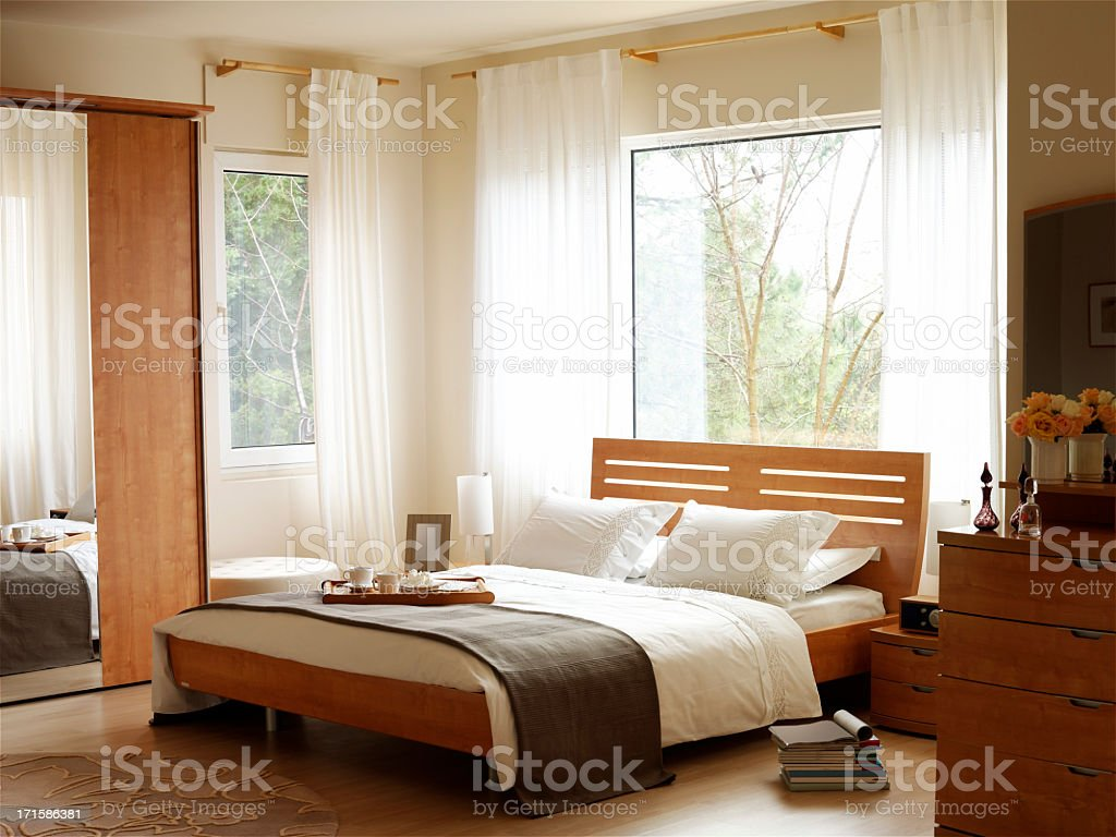 Bright Bedroom royalty-free stock photo