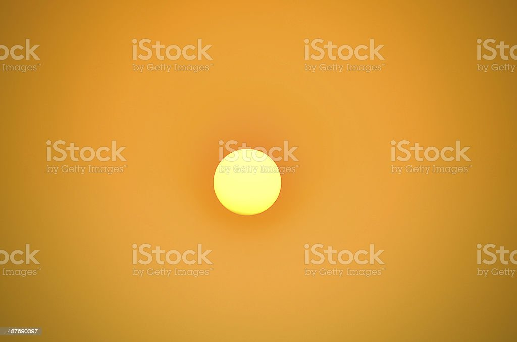 Bright big sun on the sky royalty-free stock photo