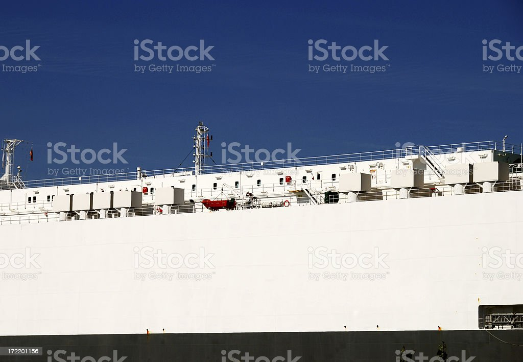 bright black and white ferry royalty-free stock photo