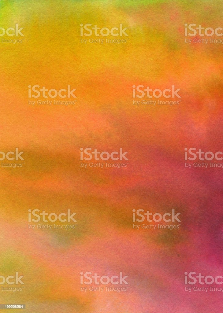 Bright blended color gradient hand painted on paper vector art illustration