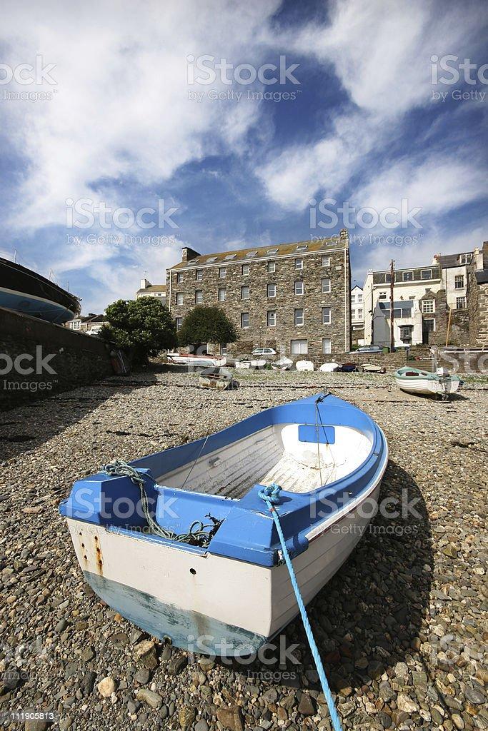 Bright Blue Boat royalty-free stock photo