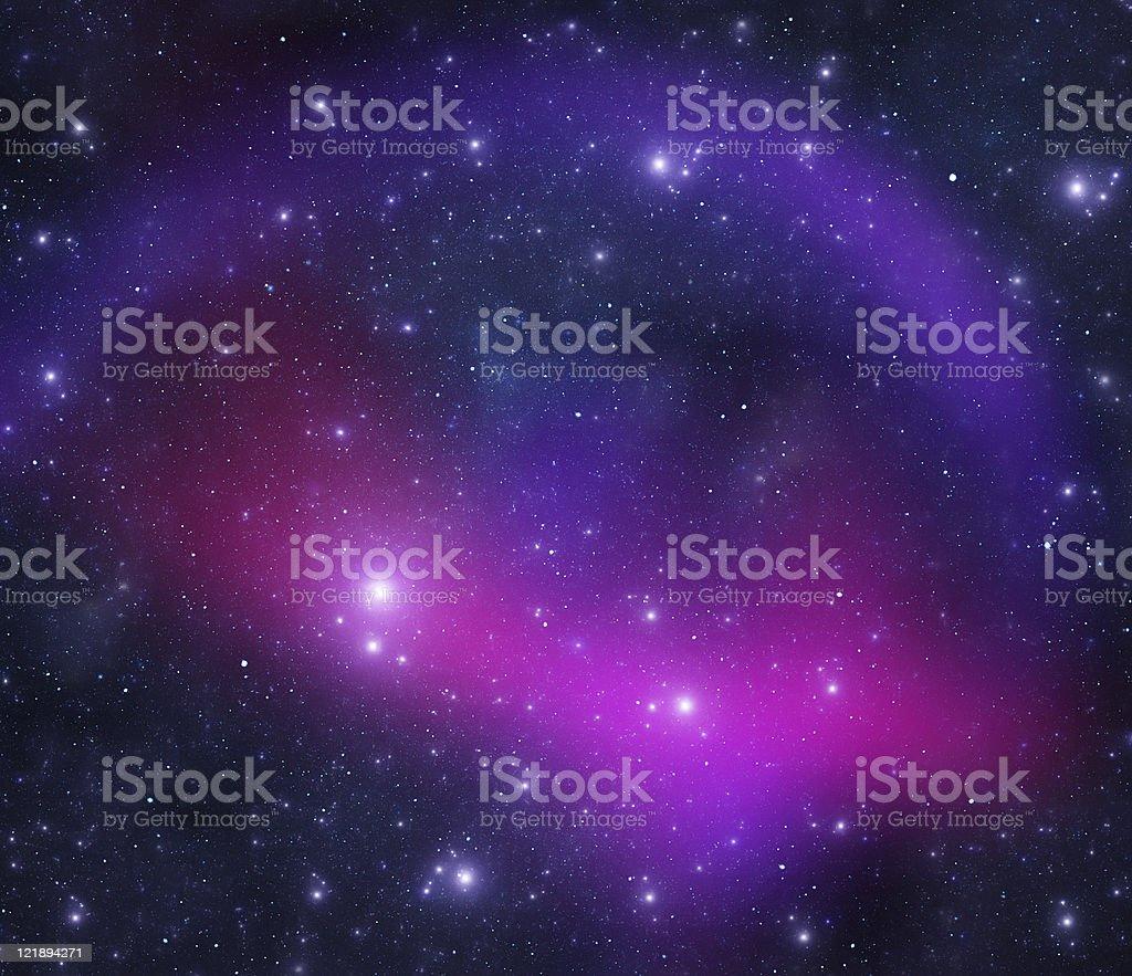 Bright blue galaxy royalty-free stock photo