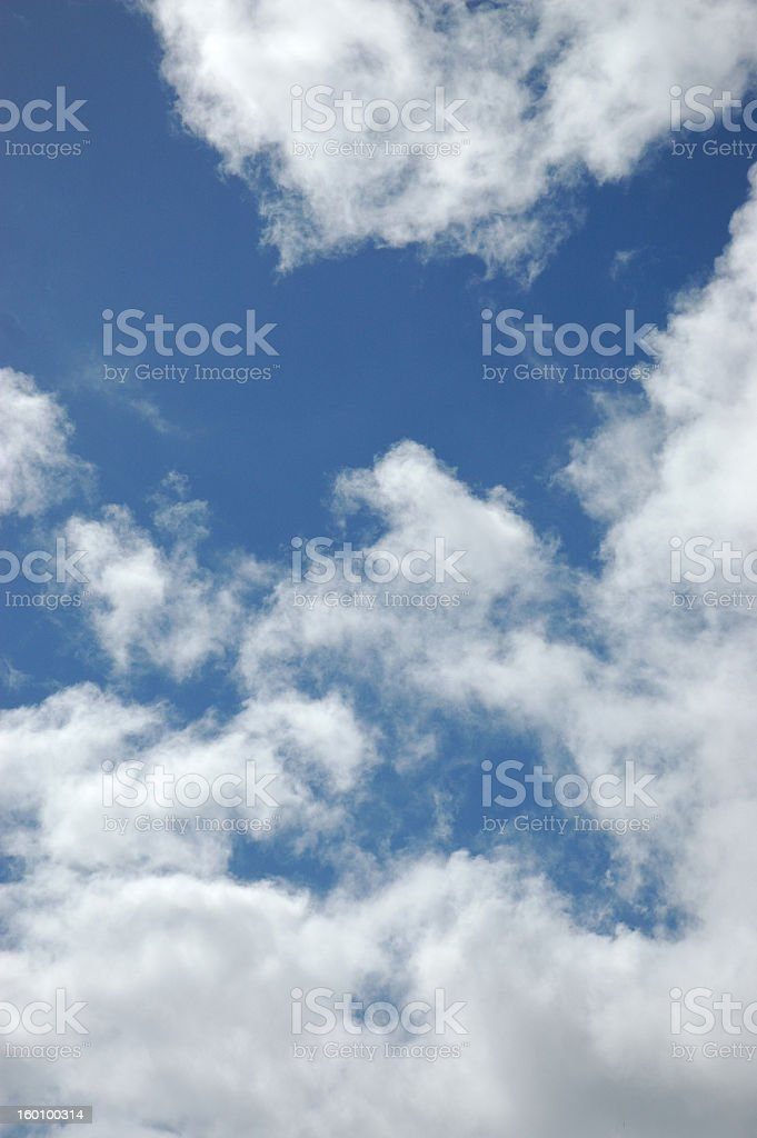 Bright Blue New Zealand Sky (Vertical) stock photo