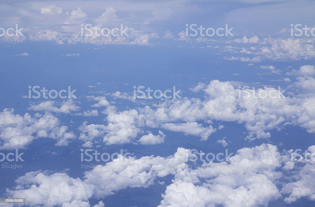 Bright blue sky above the clouds royalty-free stock photo