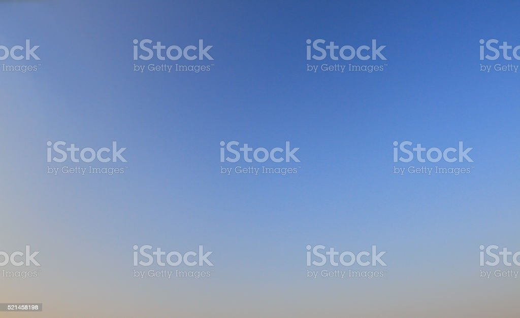 Bright blue sky - empty canvas. Clear blue sky, stock photo