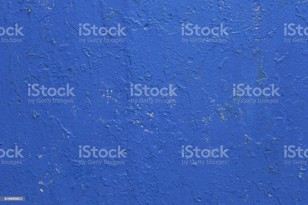 bright blue texture concrete wall stock photo