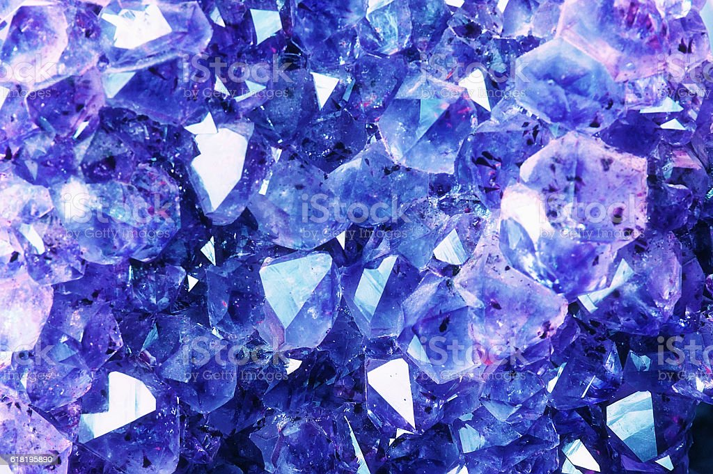Bright Blue Texture from Natural Crystal. stock photo