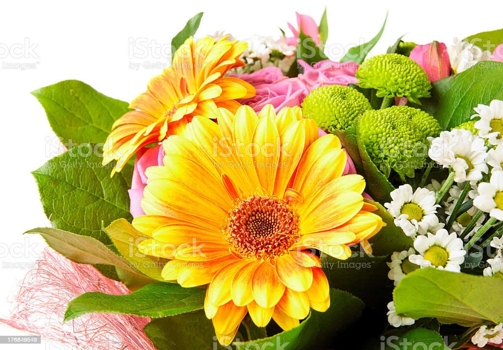 Bright bouquet isolated on white royalty-free stock photo