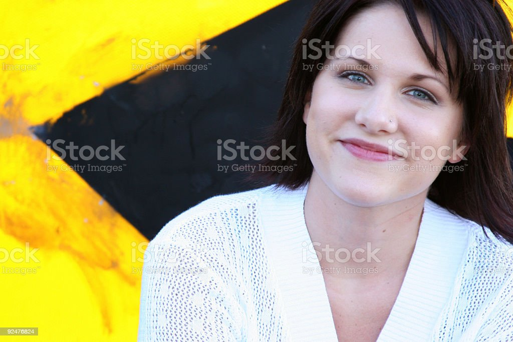 Bright Brunet royalty-free stock photo