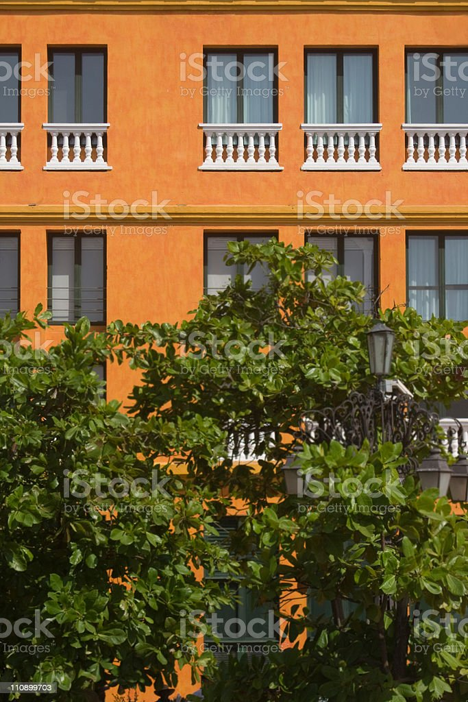 Bright Building Facade royalty-free stock photo
