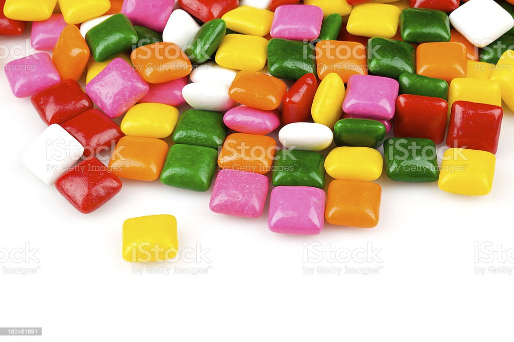 bright chewing gum squares royalty-free stock photo