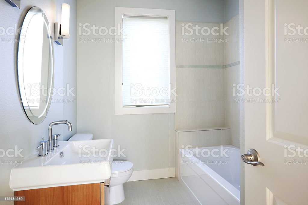 Bright, Clean Bathroom royalty-free stock photo