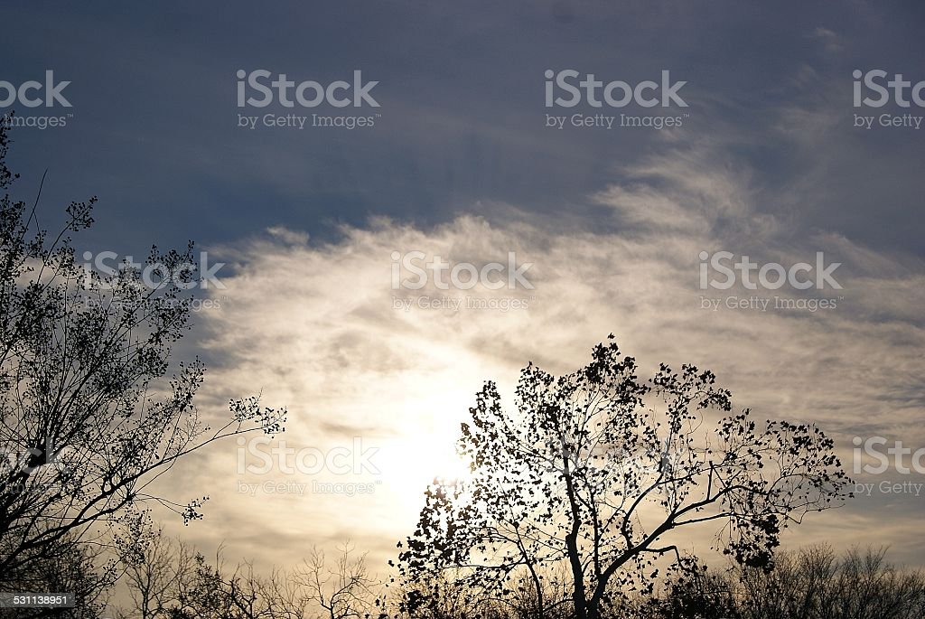 Bright Clouded Sun royalty-free stock photo