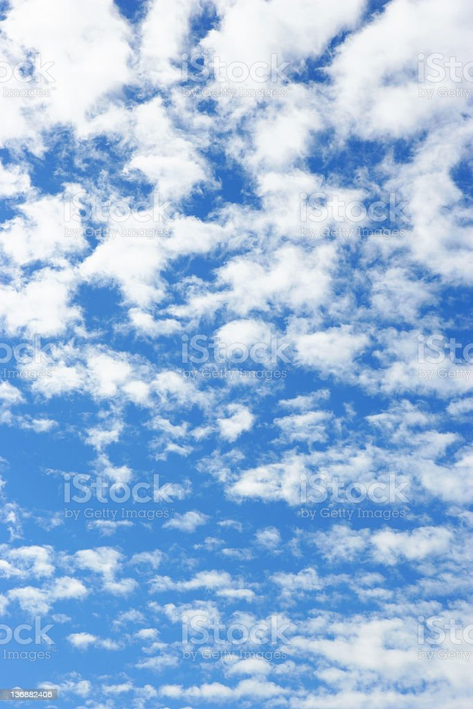 XXL bright clouds and blue sky royalty-free stock photo