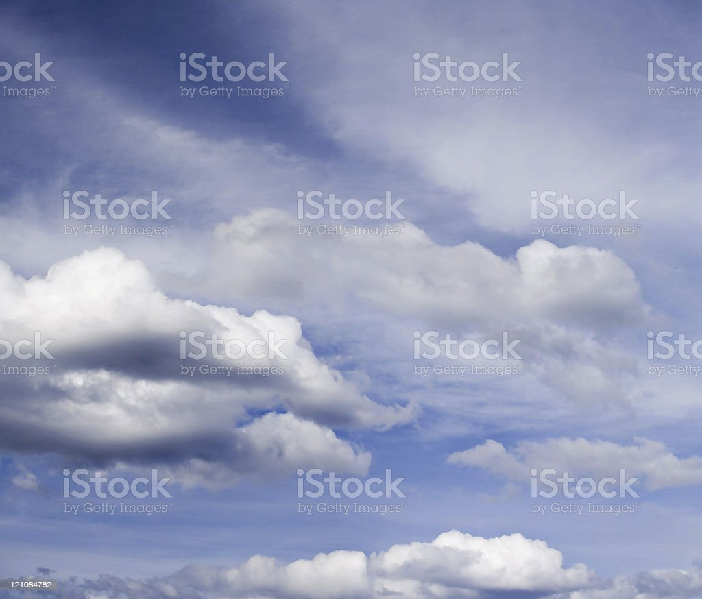 Bright cloudscape. royalty-free stock photo