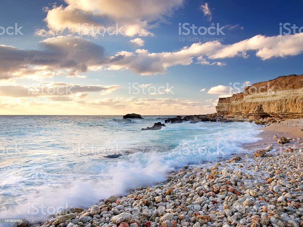 Bright coast royalty-free stock photo
