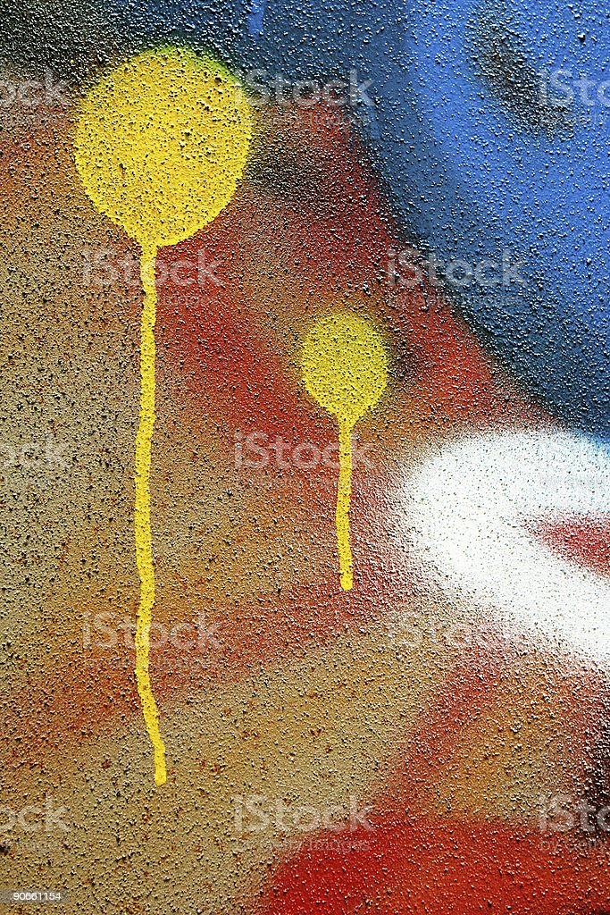 Bright Color Graffiti Art royalty-free stock photo