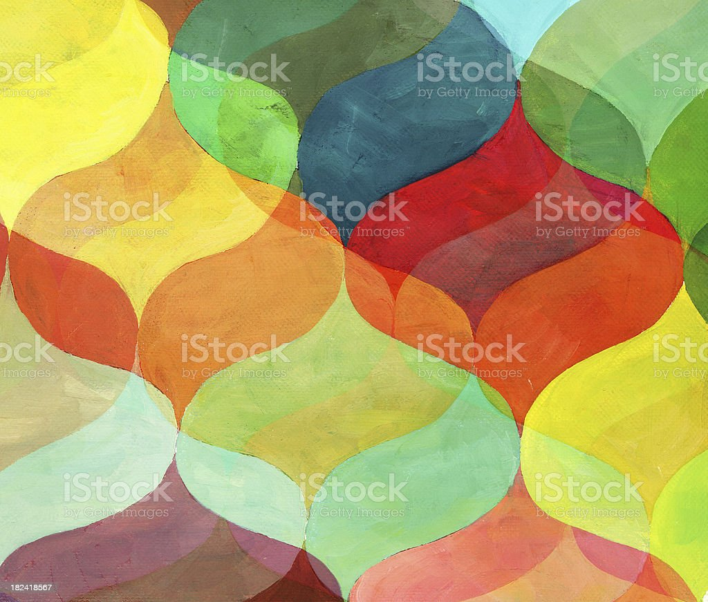 Bright Colored Painted Pattern royalty-free stock photo
