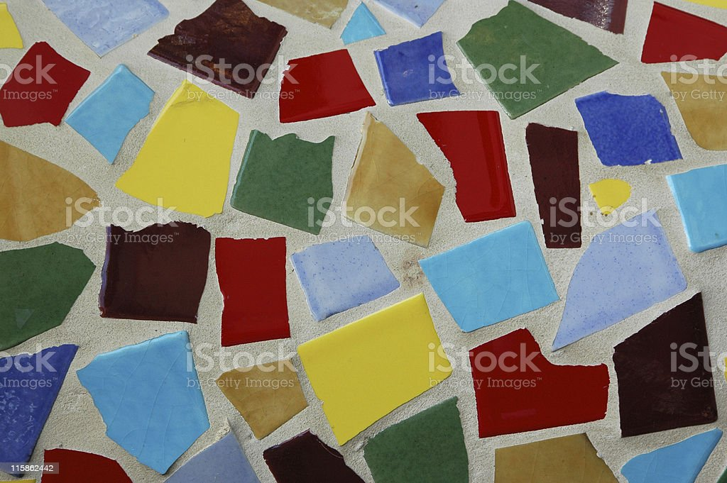 bright colored tile shards royalty-free stock photo