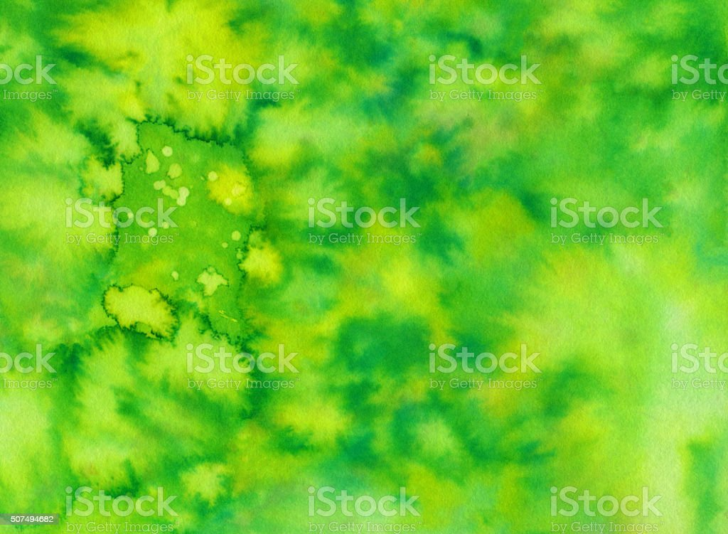 Bright colorful abstract background with hues of green stock photo
