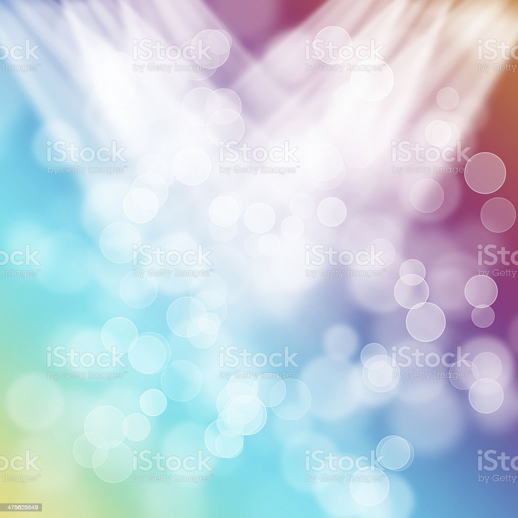 bright colorful circles with bokeh background royalty-free stock photo
