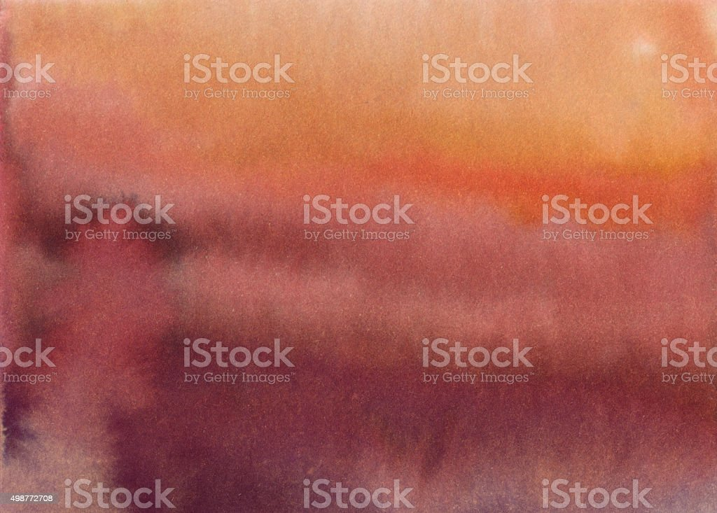 Bright colorful red and orange hand painted gradient background stock photo