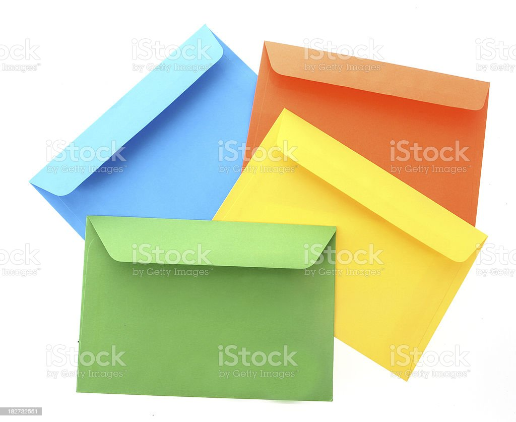 Bright Coloured Envelopes royalty-free stock photo