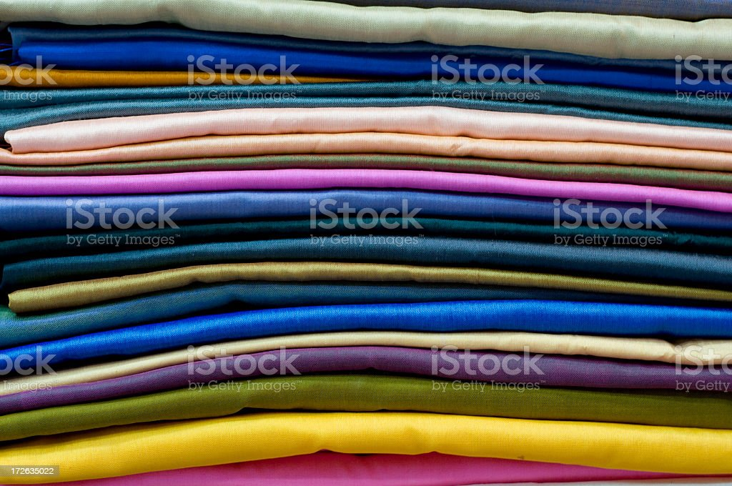 Bright Colourful Fabrics royalty-free stock photo
