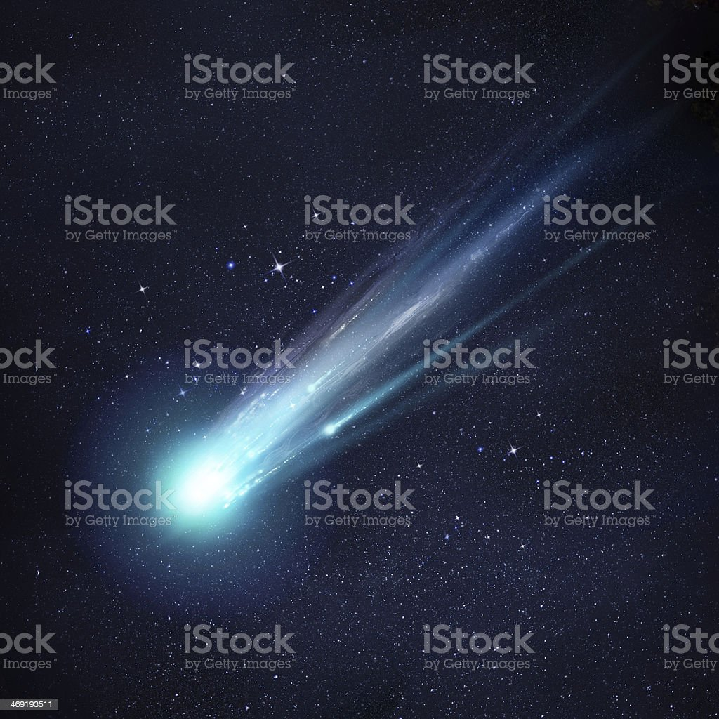 Bright Comet stock photo