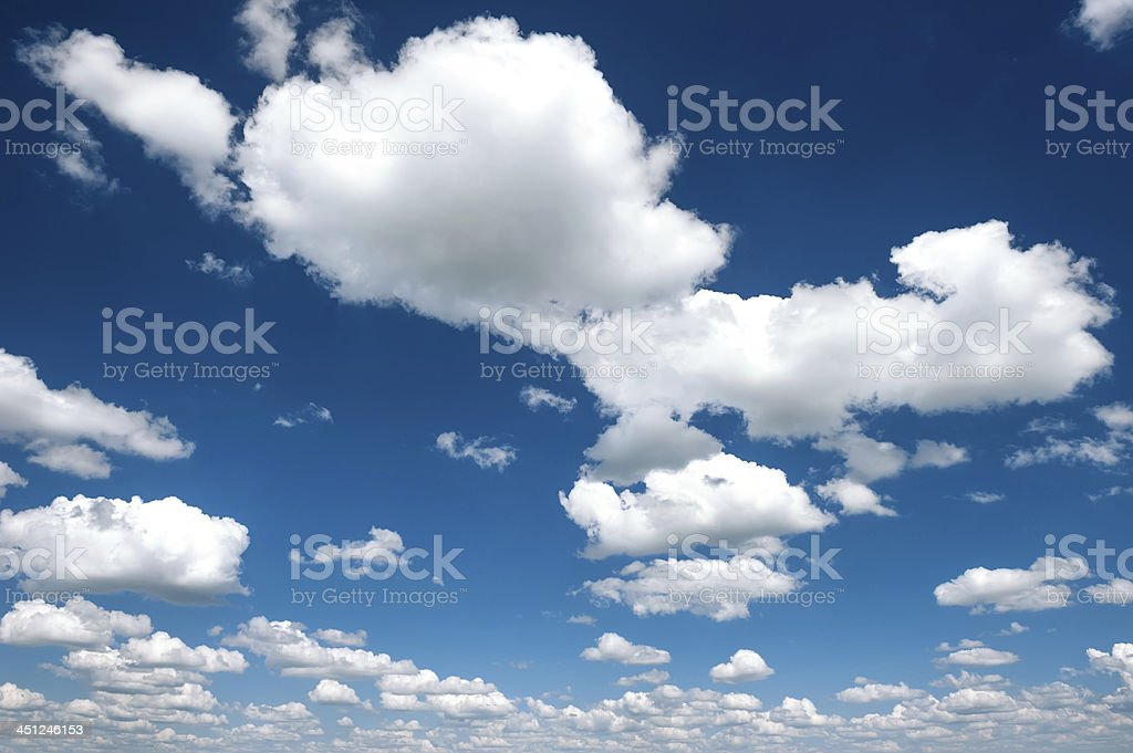bright contrast sky with clouds stock photo