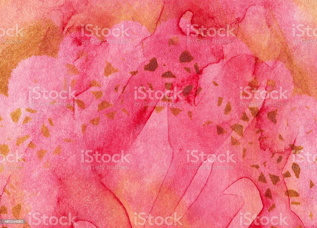 Bright coral colored background with lace texture stock photo