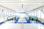 Bright Corridor with Moving Walkways