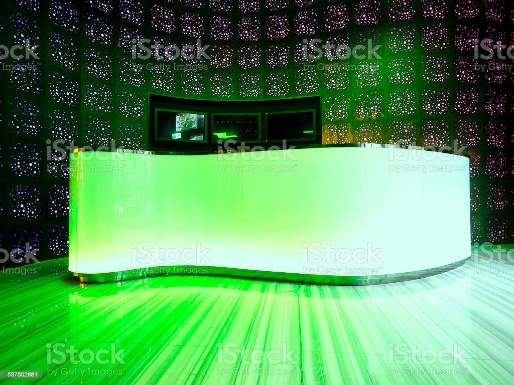 Bright counter stock photo