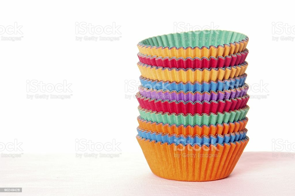Bright Cupcake Holders 3 royalty-free stock photo