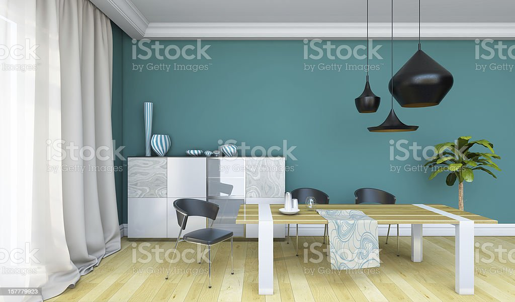Bright Dining Room royalty-free stock photo