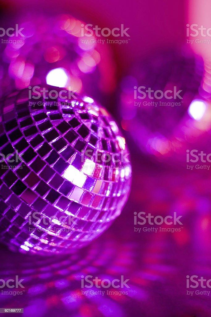 Bright disco balls royalty-free stock photo