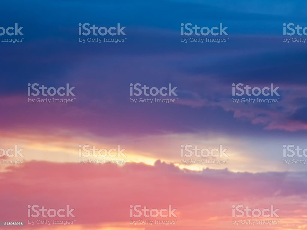 Bright dramatic sunset stock photo