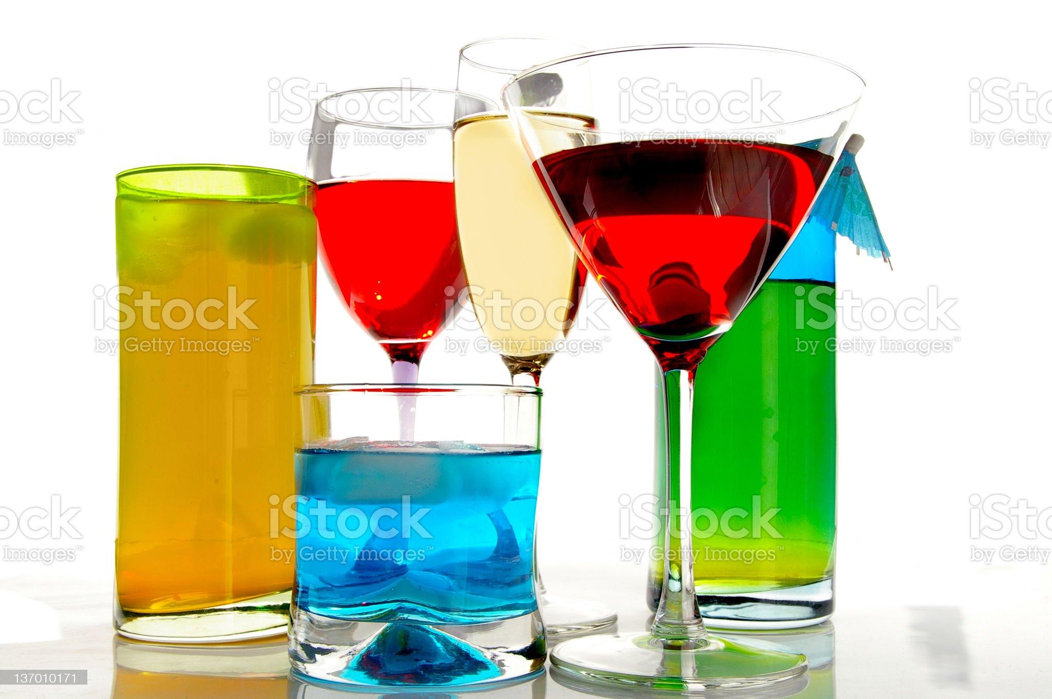 Bright drinks royalty-free stock photo