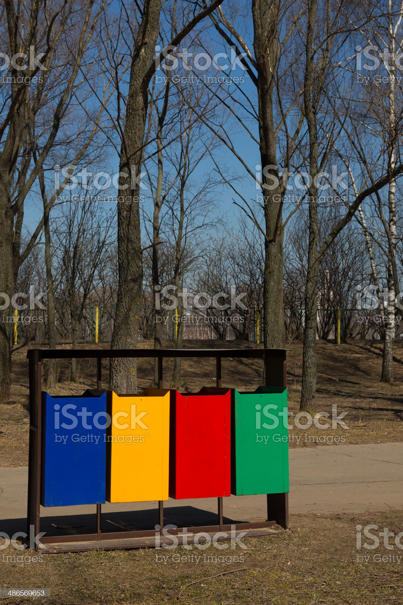 bright dumpsters royalty-free stock photo