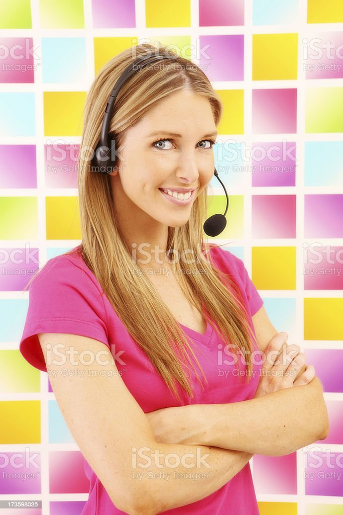 Bright Efficient Support royalty-free stock photo