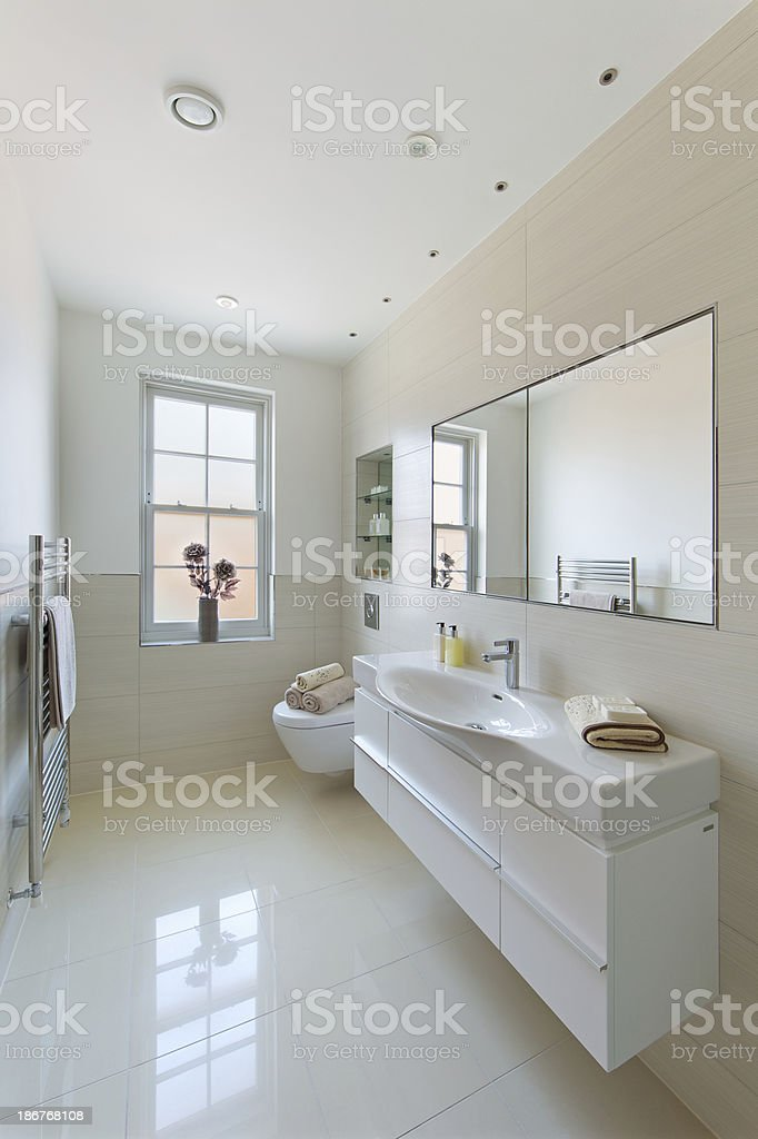 bright elegant bathroom stock photo