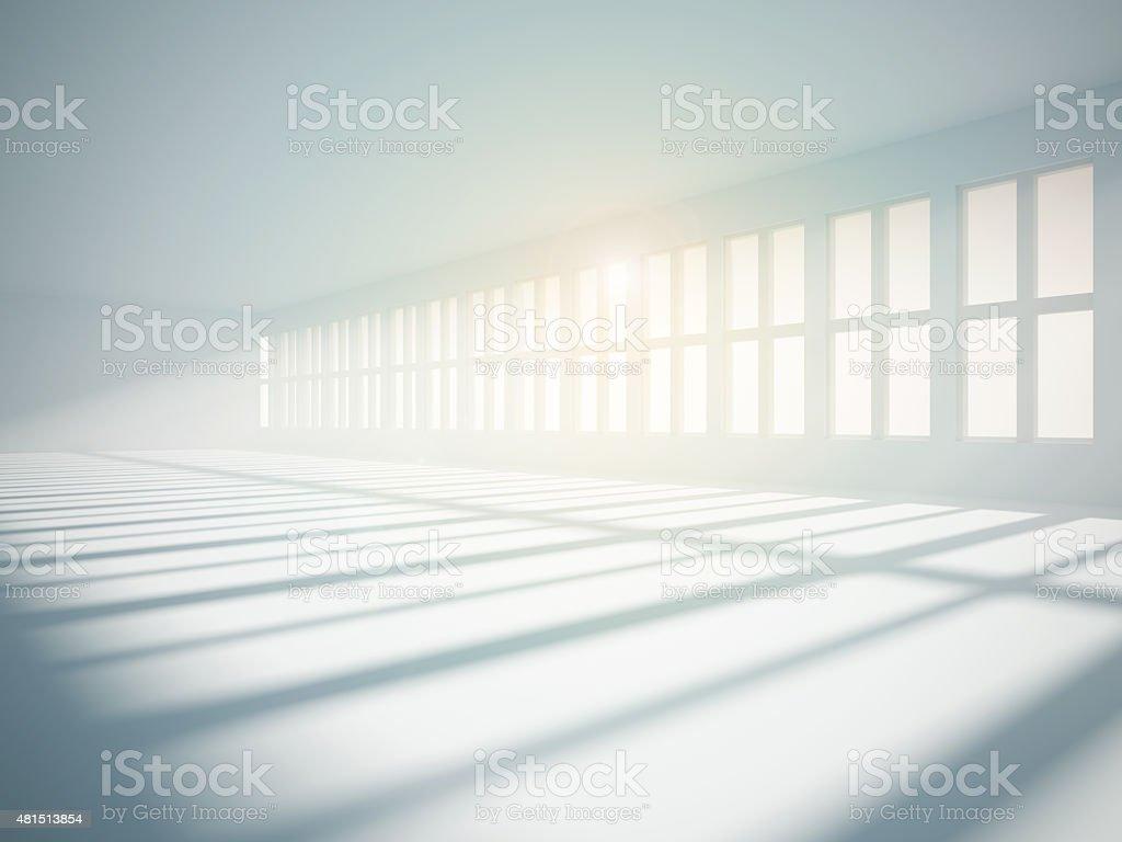 Bright empty interior stock photo
